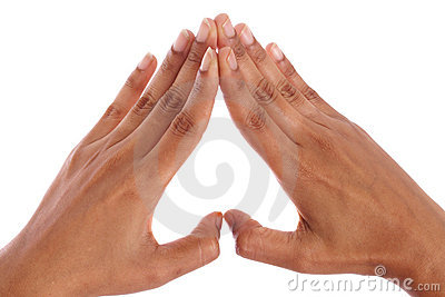 Hands forming a heart  shape