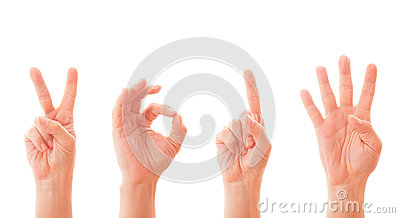 Hands forming number 2014