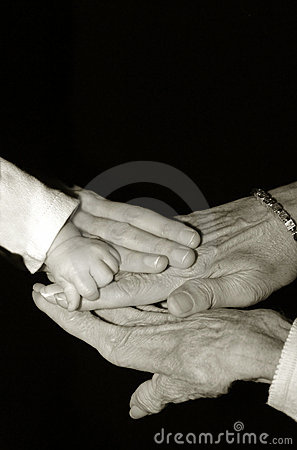 Hands of four generations
