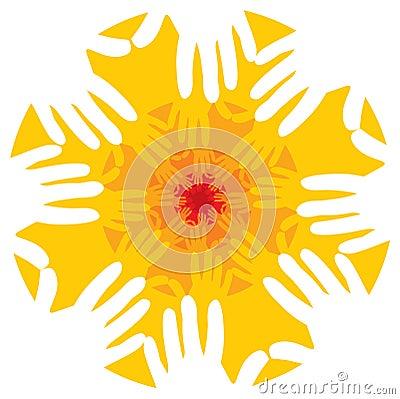 Free Hands Fractal Or Mandala Royalty Free Stock Photos - 71396818