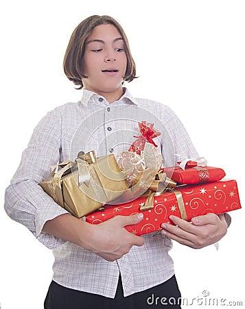 Hands full of presents