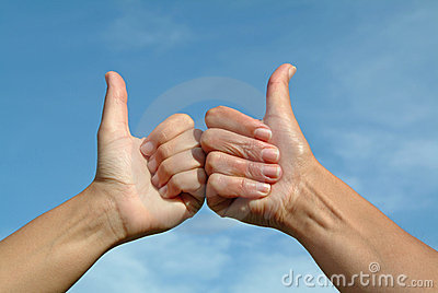 Hands gesture positive OK