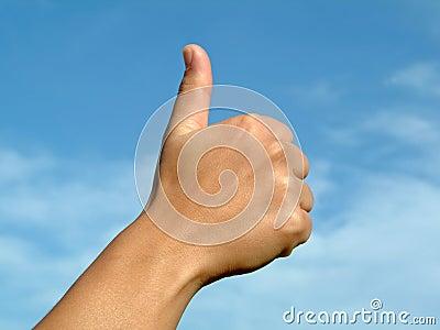 Hands gesture positive OK