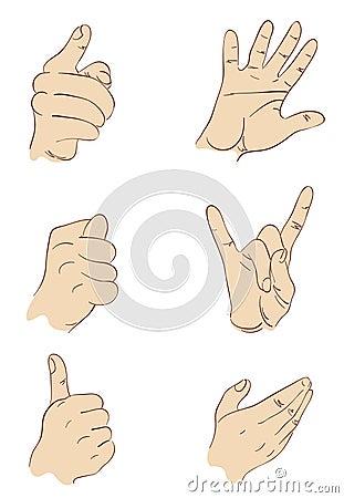 Hands, gestures