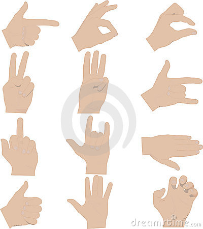Hands gestures illustrations