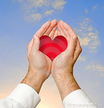 Hands giving heart