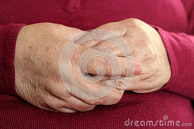 Hands grandmother.