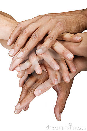 Free Hands Group Royalty Free Stock Photo - 4999495