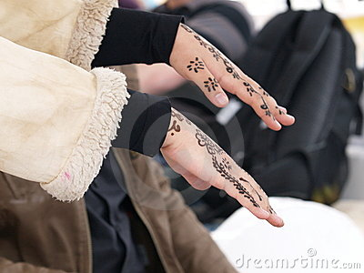 Hands with henna