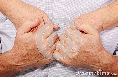 Hands hold hands