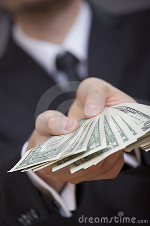 Free Hands Holding American Dollars Royalty Free Stock Image - 15441806