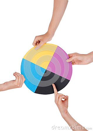 Hands Holding a Chromatic Circle