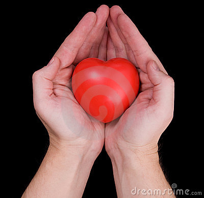 Hands holding heart