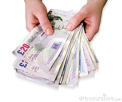 Hands holding money Editorial Stock Image