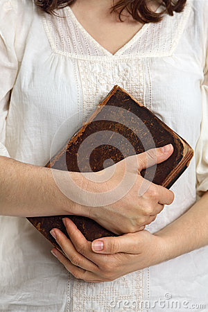 Free Hands Holding Old Bible Royalty Free Stock Images - 24707979