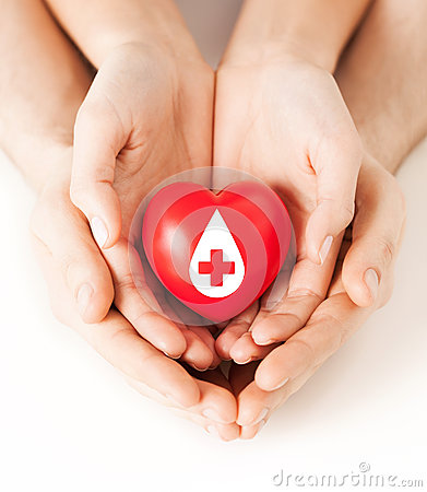 Free Hands Holding Red Heart With Donor Sign Stock Photo - 38521030