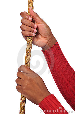 Hands Holding Rope