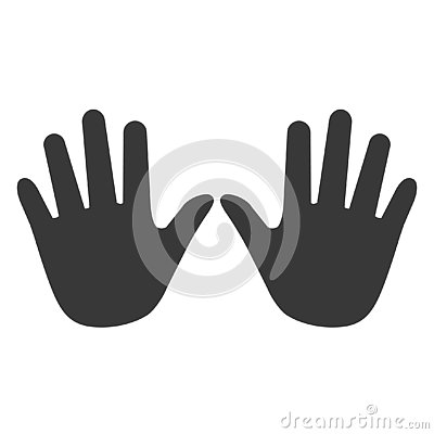 Hands icon, hand icon vector, in trendy flat style isolated on w Cartoon Illustration