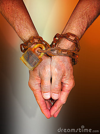 Free Hands In Chains Stock Image - 5264651
