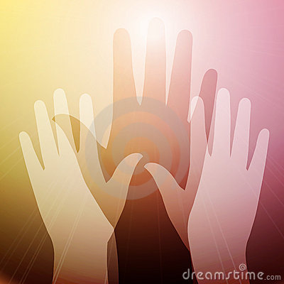 Free Hands In Light Stock Image - 18679421