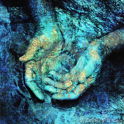 Free Hands In Sacred Water Stock Photo - 9128240