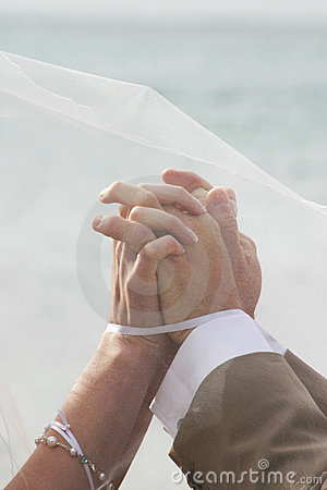 Hands joined in marriage
