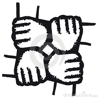 Free Hands Joined (vector) Royalty Free Stock Photos - 9055208