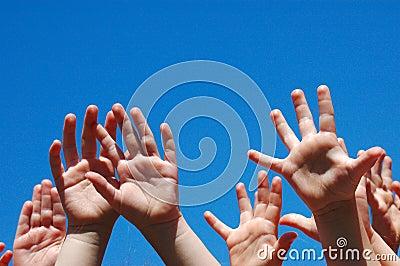 Hands of kids