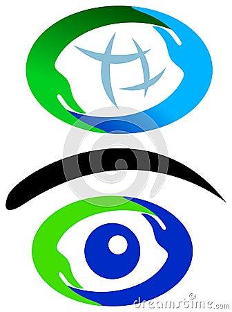 Hands logo set