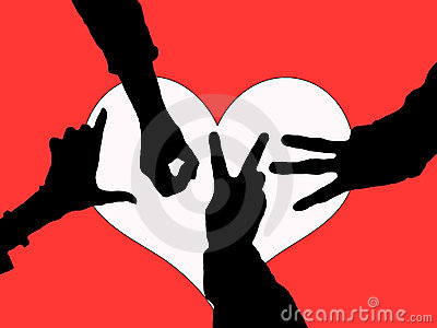 friendship hands pictures. HANDS OF LOVE SILHOUETTE