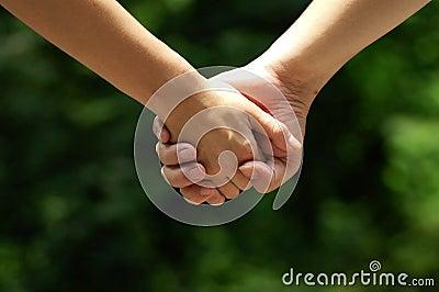 Hands of lovers
