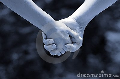 Hands of lovers(monochrome)