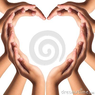 Free Hands Make Heart Shape Stock Images - 39003294