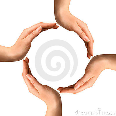 Free Hands Making A Circle Stock Photo - 11488460
