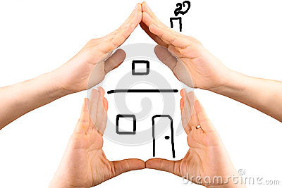 Hands Making the Shape of a House