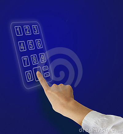 Hands And Numeric Keypad Royalty Free Stock Photos - Image: 18588818