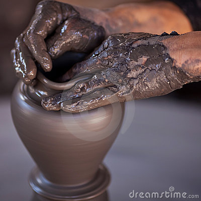 Free Hands Of A Potter Stock Photos - 19958833