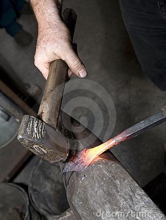 Free Hands Of Blacksmith By The Work Stock Photography - 15924812