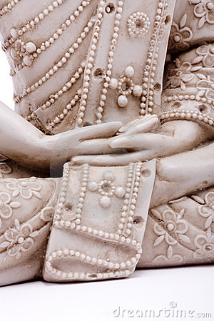 Free Hands Of Buddha Stock Photography - 12559692