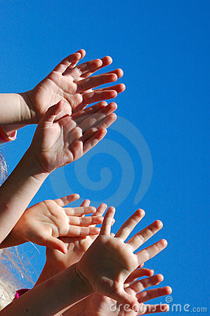Free Hands Of Worshipping Kids Royalty Free Stock Photo - 6044655