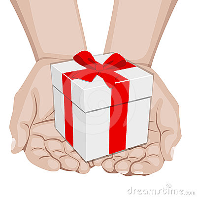 Hands offering a gift
