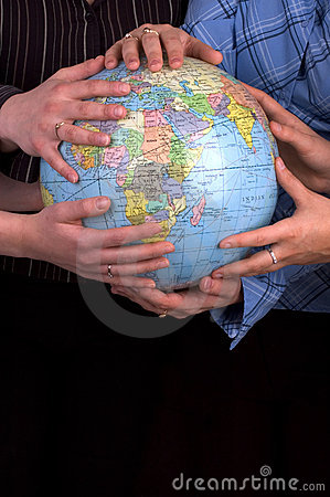 Free Hands On A Globe Stock Photo - 498480