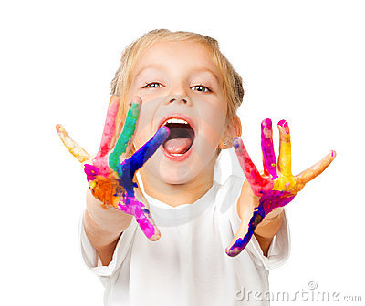 Hands in the paint