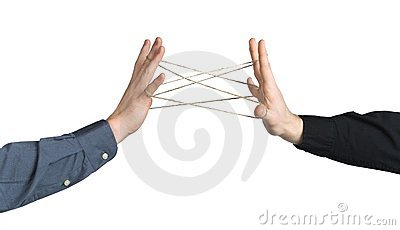 Hands playing with rope, symbolising connectivity, friendship, strong bonds