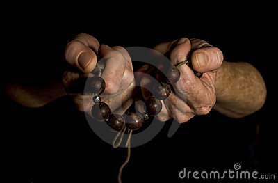 Hands with Prayer Beads