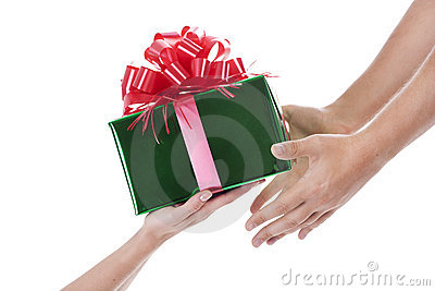 Hands with a present