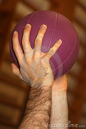 Hands and Purple Ball