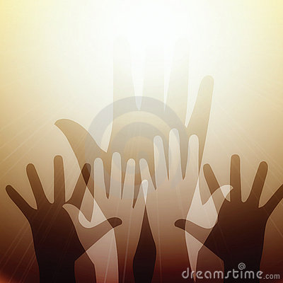 Free Hands Reaching For Light Royalty Free Stock Photography - 16856637