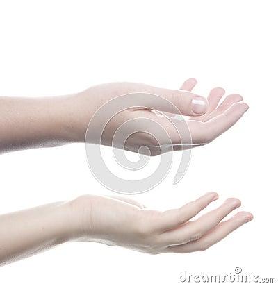 Hands receiving
