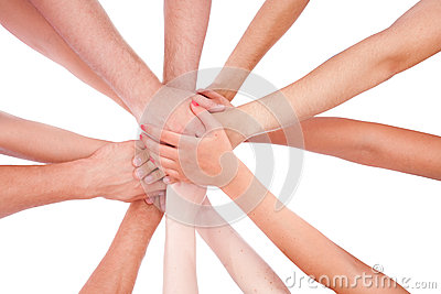 Hands ring teamwork